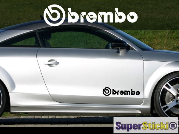 2x Brembo Sponsor Aufkleber Aufkleber Schweller Auto Tuning Ca 30 Cm